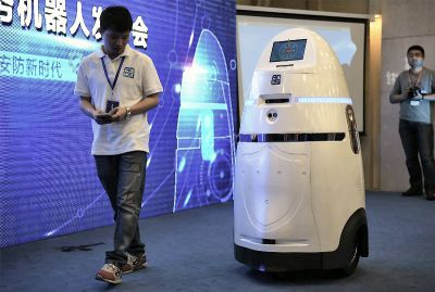 AnBot, der smarte Security Roboter. Foto: Firma