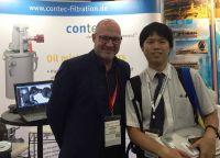 Jochen Lehmkuhl, Geschäftsführer contec GmbH mit Herrn Shibauchi, Mitsubishi Heavy Industries Ltd., Hiroshima, Japan