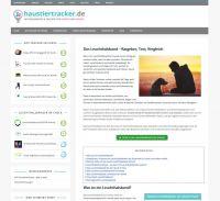 Screenshot der Webseite haustiertracker.de