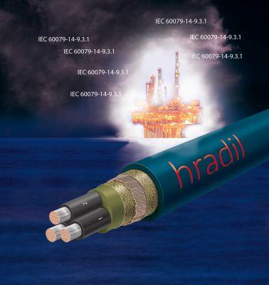 Mit den neu entwickelten SC 44 Kabeln von HRADIL werden die Anforderungen der IEC 60079-14-9.3.1 in Gänze erfüllt
