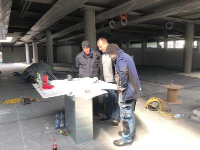 Baustellen- Besprechung bei Dietrich