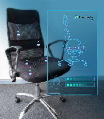 Möbel mit kapazitiven Sensoren tragen zur Gesundheitsüberwachung bei. (© Fraunhofer IGD)