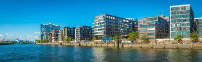 Blick auf die Hamburger Hafencity