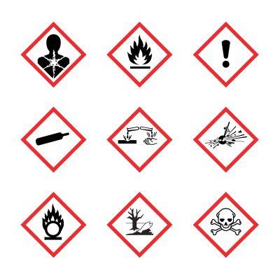 Die Gefahrenkennzeichen nach GHS