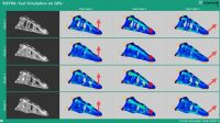 Im Falschfarbenmodell zeigt die Simulation Schwachstellen in der Konstruktion. @Fraunhofer IGD