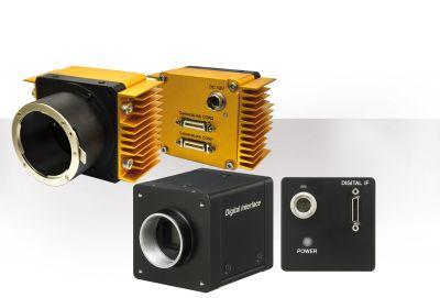 Neue hochauflösende Kameras für die industrielle Bildverarbeitung: 25-Megapixel-Modell von Crevis (oben) und Sony XCL-S-Kamera