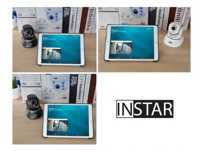 Apple Homekit mit INSTAR Full HD IP Kamera - Schwarz / Weiß
