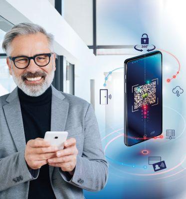 Dank myKi können Mitarbeiter mit einem Chip, Token oder Smartphone gleich mehrere Räume öffnen. (Bild: Schomäcker)