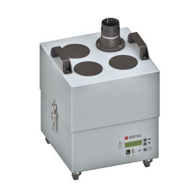 Eine Lötrauchabsaugung wie die Zero-Fume 4 von WETEC filtert auch die Atemmluft des Werkers und trägt so zum Pandemieschutz bei.