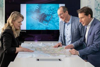 Das Netzwerk MUNITECT diskutierte Maßnahmen zur Altmunition-Räumung in der Ostsee mit Peter Stein (Mitte). © Fraunhofer IGD