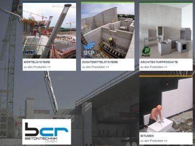 BCR Betontechnik GmbH - Ihr Experte für bauchemische Produkte