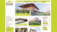 Screenshot der Webseite von Buchner Holzbaumeister