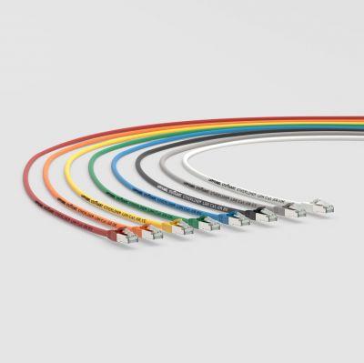 Die ETHERLINE® LAN Cat. 6A Patchcords sind in verschiedenen Farben erhältlich
