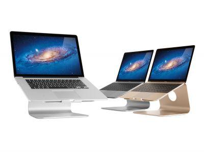 Die Laptop und Tablet Ständer von Rain Design fügen sich durch ihr minimalistisches Design in jede Umgebung ein.