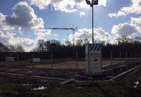 """Die Baustelle des Tierheims Ahaus wird ab sofort mit dem intelligenten Kamerasystem """"BauWatch"""" überwacht. (Foto: MAIBACH, Velen)"""