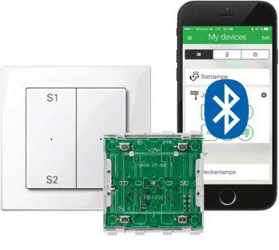 Wiser Taster-Modul und Wiser App verwandeln Smartphones und Tablets in komfortable Steuerzentralen für Licht und Jalousie