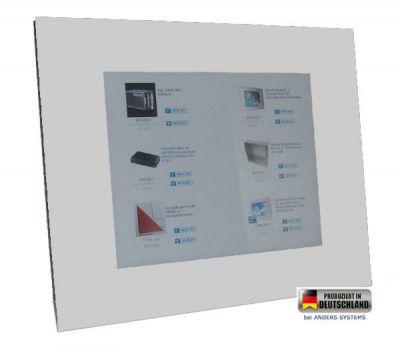 Touch Panel PC mit Vollglasfront und Farbe Brilliantweiss