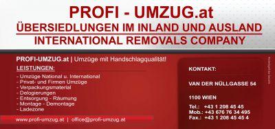 Umzug und Übersiedlung Wien mit Profi- Umzug Wien