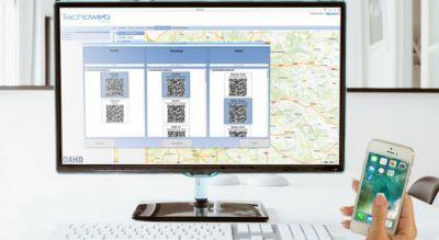 Das Desktop-Programm QR TourClient ermöglicht die Übertragung der Informationen von der Laderampe direkt zum Fuhrparkverantwortlic