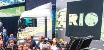 Offizielle Vorstellung der RIO-Plattform bei der IAA Nutzfahrzeuge (Bildrechte: Volkswagen AG)
