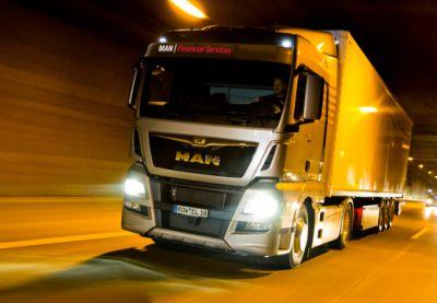 Alle TGX-Fahrzeuge sind jetzt mit MAN Safety Packages unterwegs. Bild: Euro-Leasing GmbH/MAN