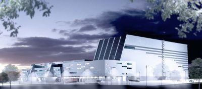 Visualisierung des neuen Logistikzentrums bei Frankfurt