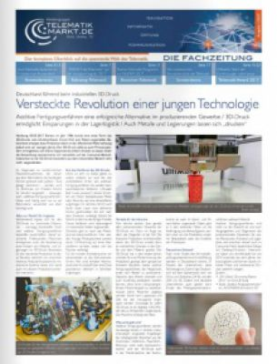 Die erste Printausgabe der Fachzeitung Telematik-Markt.de im Jahr 2017 ist erschienen. Bild: Telematik-Markt.de