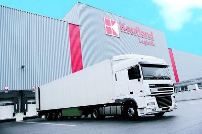 Die Kaufland Logistik wurde für die Reduktion des CO2-Ausstoßes ausgezeichnet.