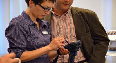 Ein Fokus am Implico-Stand: die neue Handheld-Lösung zur Digitalisierung von Mineralöl-Verladungen. Bild: Implico