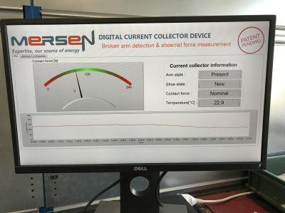 Neuvorstellung auf der Innotrans: Interface zur Anzeige der Messwerte des digitalen CCD