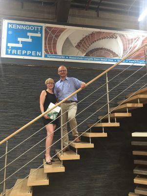 Frederike Bühring - Geschäftsführerin der Wolf Spedition und Jörg Kenngott
