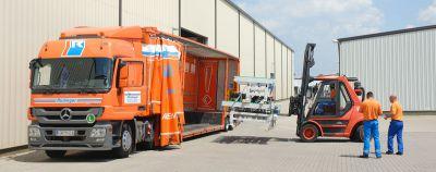Maschinentransport und Transportleistungen für die Anlagenbau-Industrie sind Kernkompetenz der Spedition in Baden-Württemberg.