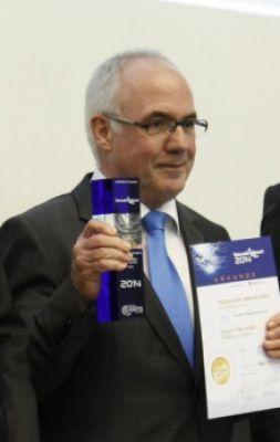 Hans-Hermann Ruschmeyer, früherer Geschäftsführer der Dreyer+Timm GmbH, nahm 2014 den Telematik Award für die kombinierte Telemati