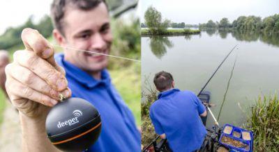 """Das kleine Echolot """"Deeper Fishfinder"""" übermittelt Gewässerdaten per W-LAN in Echtzeit auf das Smartphone und erlaubt auch die aut"""