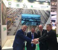 Alexey Grom, Mattheo Gasparato und Dr. Gernot Tesch bei transport und logistik 2019 in München