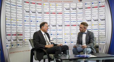 Andreas Kirchheiner, Geschäftsführer der AIS GmbH (li.) im Interview mit Peter Klischewsky, Chefredakteur der Mediengruppe Telemat