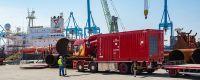 Bredenoord Container Aggregat auf einer Großbaustelle