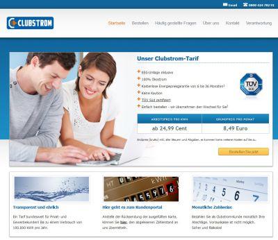 Der neue Stromtarif Clubstrom bietet bundesweit einheitliche Tarifkonditionen. www.club-strom.de