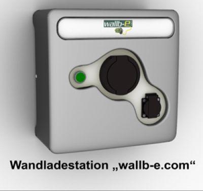 """smart- safe- profitalble: die Wandladestation """"wallb-e.com"""" mit einer Ladeleistung von 22kW"""