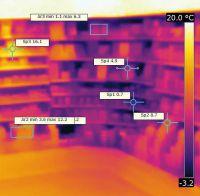 Wärmebild Eck-Kühlregal, Bildquelle: Dr. Steinmaßl MANAGEMENTBERATUNG