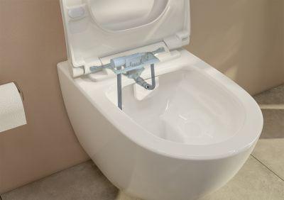 Dusch-WC für Einsteiger: Wand-WC aus der Kollektion Sento mit dem integrierten Trinkwasserschutz VitrA  Aquacare