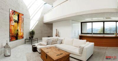 Wohnzimmerbeispiel mit einer REDPUR Infrarotheizung / REDPUR