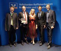 Preisgekrönter Pionier in der Umwelttechnologie: Matthias Wackerbauer, MWK Bionik GmbH (2.v.l.)