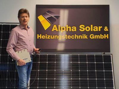 Geschäftsführer Reinhard Bege, Alpha Solar- und Heizungstechnik GmbH