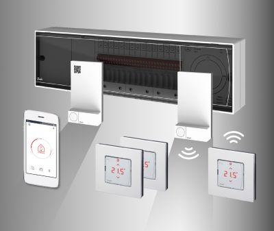 Smart Heating im Wohnbau mit Danfoss Icon Raumthermostaten für Fußbodenheizung. ©Danfoss