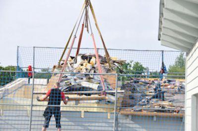 Sind nach 12 Jahren verrottet: Die Gründächer im QIII des Langenhorner Heidberg Village.