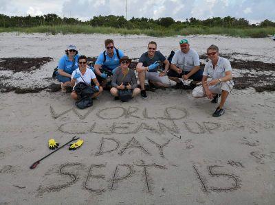 Gemeinsam sind wir stark - Meeting weltweite Teammember zu einem Pre-Cleanup im Juni diesen Jahres in Miami (Florida)