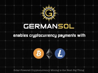 Solar powered cryptocurrency mining by germansol (© germansol)