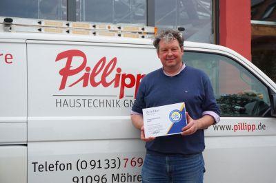 Geschäftsführer Jürgen Pillipp hat zusammen mit anderen modernen und innovativen Handwerksunternehmen das IFNS gegründet.