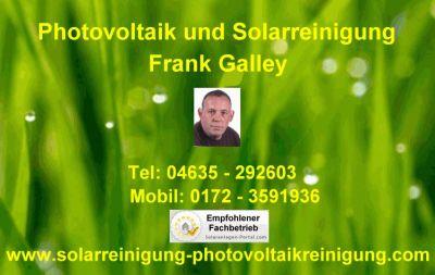 Solarreinigung Galley